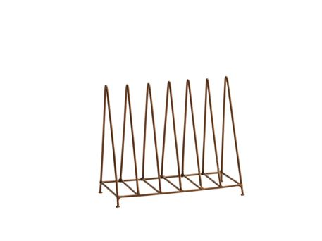 Postkort rack - antik messing