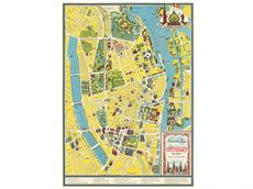 Plakat med Map of Copenhagen old town