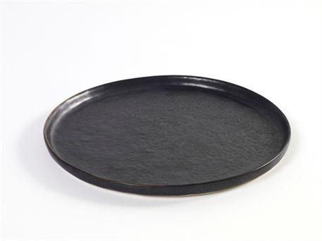 Frokosttallerken - sort stentøj - Notre Dame