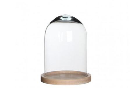 Topnotch Glaskuppel med træbund til dekoration MH-19