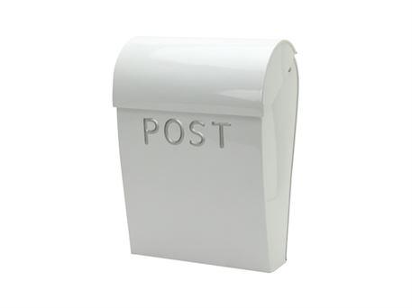 Dejlig Retro postkasse i hvid med lås - bestil på notredame.dk YR-67