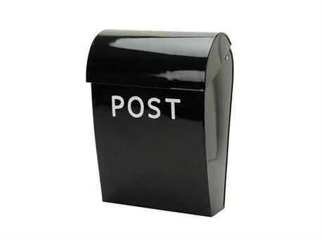 Lækker Retro postkasse i sort med lås - bestil på notredame.dk JQ-26