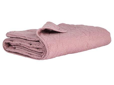 vattæppe Flot vattæppe i en lækker rosa nuance med hvide prikker fra Ib Laursen vattæppe
