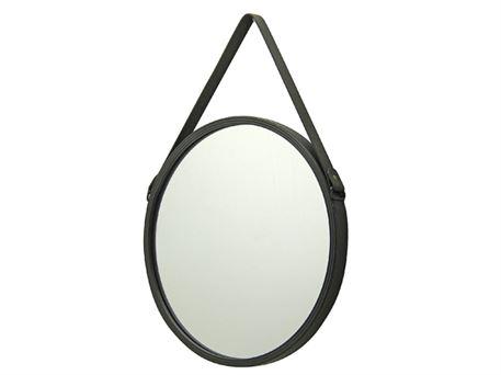 rundt spejl med rem Spejl   med rem   40 cm   Notre Dame rundt spejl med rem